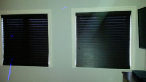 Brown Faux Wood Horizontal Blind (2 available @ $50 each)