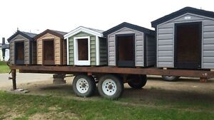 FULLY INSULATED AND SIDDED DOG HOUSES