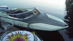 15 ft ski boat with 85 hp johnson