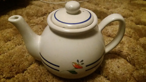 White Teapot with flower decoration