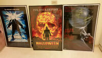 FRAMED MOVIE POSTERS! TERMINATOR 300 HALLOWEEN SAW DVD BLU RAY