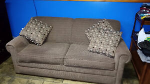 Olive green sofabed, like new, full size