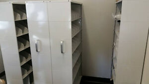 Industrial Shelving Units on Floating Track- $4000 New!!