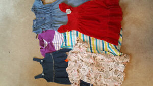 Size 4 and 5 dresses toddler 3$/ all