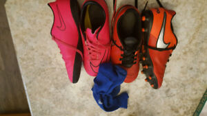Nike indoor and outdoor girls soccer cleats/shoes