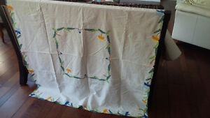 Vintage Tablecloth with Embroidery
