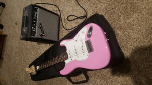 Youth Fender Electric Guitar w/ Amp