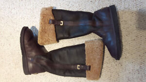 Beautiful Genuine leather tall UGGS- $75 only!!!