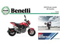 Benelli TNT125 MINI BIKE SUPER LOW SEAT HEIGHT LEARNER LEGAL 125cc RIDE ON A CBT