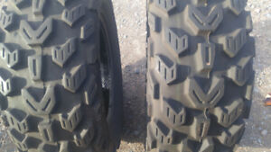 2 front tires for a 4 wheeler