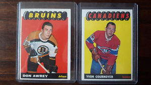 65/66 Topps Hockey/Cournoyer RC-19 Cards