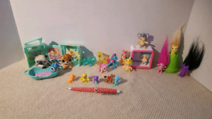 Lot petshop, little poney, twozies ,zelfs et autre
