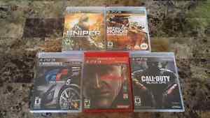 5 PS3 GAMES