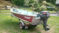 14 ft Naden Aluminum Fishing Boat and Trailer