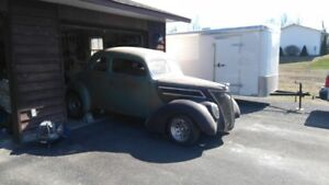 "1937 ford coupe running board and 9"" ford 3rd member"