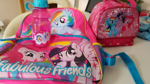 my little pony articles/ dresses, shoes, backpack, lunchbox etc
