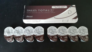 Lentilles de contact Dailies Total 1, 5.50 et 6.50