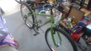 Green triumph bicycle