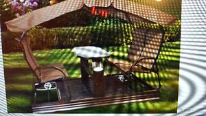 Veranda Swing Set for 4 people/Great condition at a great price