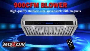 900CFM UNDER CABINET BAFFLE FILTER KITCHEN RANGE HOOD FROM $499