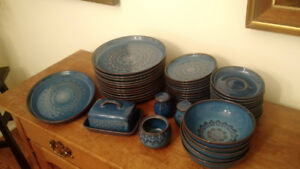 """Collection of Denby """"Midnight"""" Stoneware"""