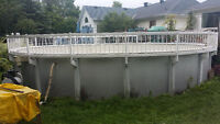 27 Foot all resin above ground swimming pool for sale !!