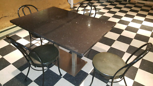 Marble Table and Chair Set