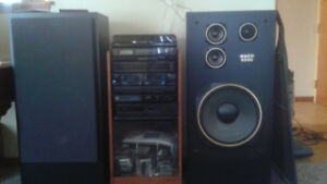York stereo and mach 6000 speakers