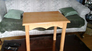 Bird's eye maple end table. One only