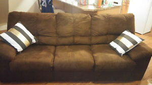 Brown couch for sale good condition