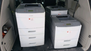 3 commercial printers, copy, fax machines.