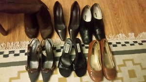 A beautiful lot of 6  shoes and boots for work. Women's size 5.5