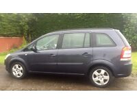 VAUXHALL ZAFIRA EXCLUSIVE 7 SEATER 1.6L (2008) year mot clean car