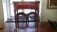 Antique1936 Singer Sewing Machine; Beautiful Wooden Cabinet BRK7