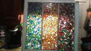 Hand Crafted Smashed Stained Glass Window