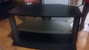 T.v.Stand with glass shelf