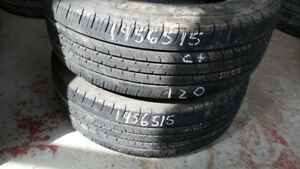 Pair of 2 Michelin Primacy MXV4 195/65R15 tires (65% tread life)