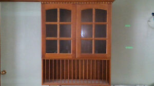 2 upper cherry cabinets best offer or trade