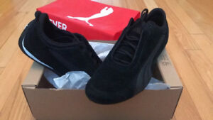 Brand new Puma all black suede shoes, size 9