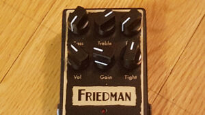FRIEDMAN BE-OD distortion pedal  mint condition with box
