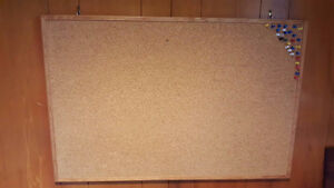 Cork Board (35 inches x 23 inches), hanging hooks included