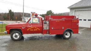 1986 GMC 3500 mini pumper