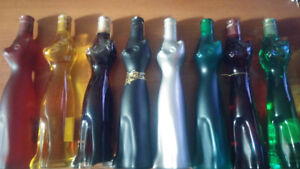 8 Happy Cat Collectible Wine Bottles. $10 each or $70 for all 8