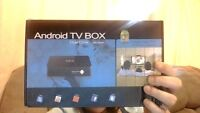 FREE TV with one time fee - MX Android Smart TV Box.