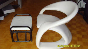 CHAIR AND STOOL FRENCH SPECIAL DESIGN $80