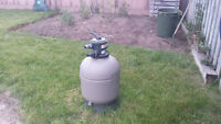 Pool Pump and Filter    (1.5 HP pump ) newer filter with pellets