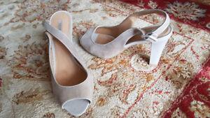 Geox Elegant Open-Toed Beige Sandals (size 38)