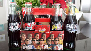 Vintage NASCAR Coke / Coca Cola Bottle Sets