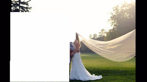 Maggie Sottero *Lorie* Wedding Dress and Veil for SALE! London Ontario image 4