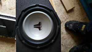 2 jl audio subs custom box 2 amps